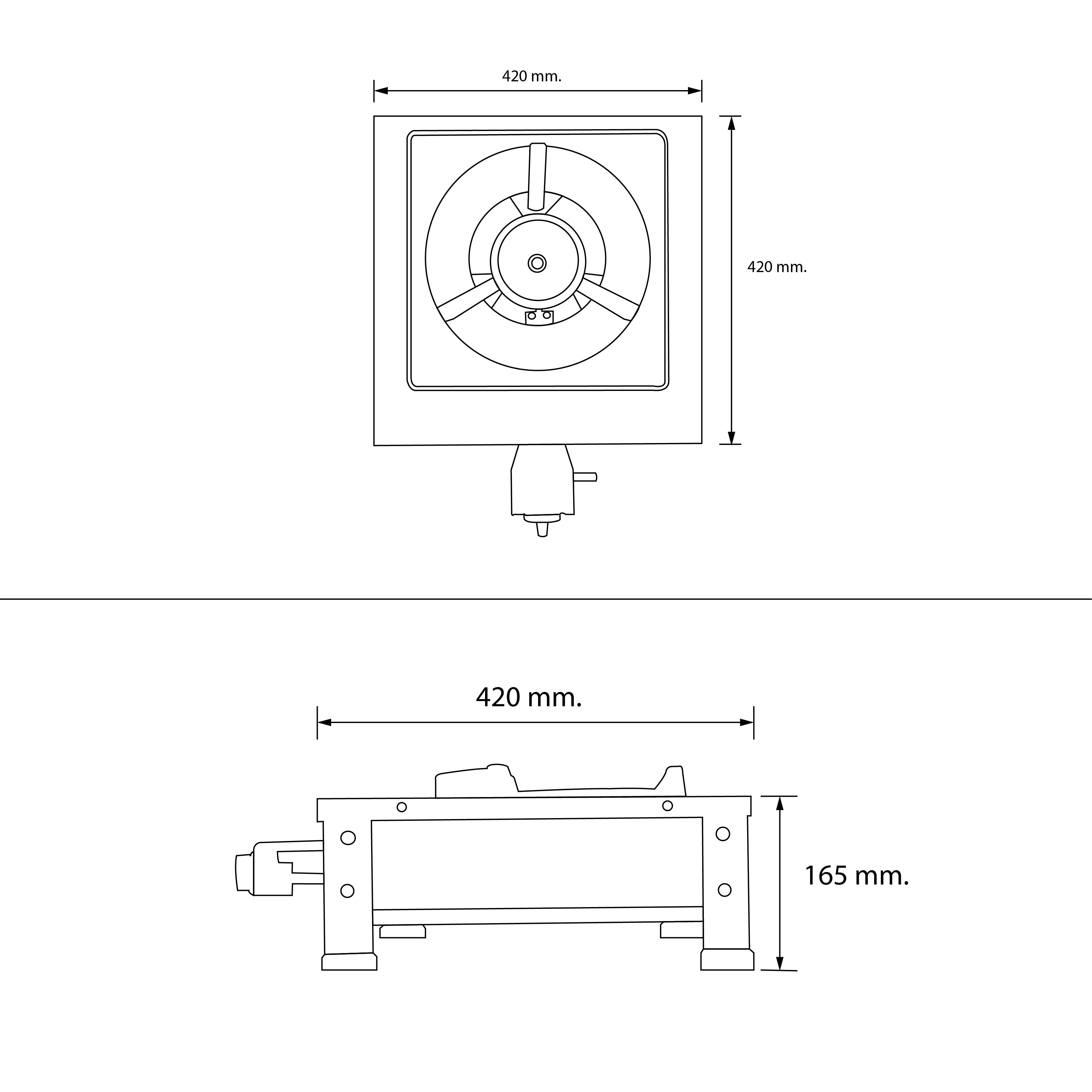 เตาแก๊สหัวเดียว เตาแก๊สตั้งโต๊ะ เตา kb5 HGS35-1KB5/AUTO (evercook)