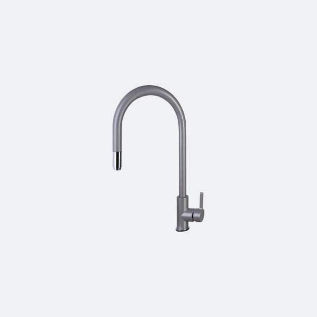 ก๊อกน้ำอ่างล้างจาน ก๊อกซิงค์ล้างจาน ก๊อกน้ำผสม AZTAC II GREY