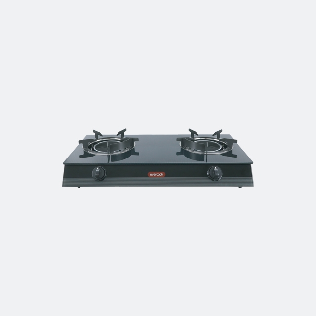 เตาแก๊ส 2 หัว เตาแก๊สตั้งโต๊ะ เตาแก๊สอินฟาเรด GS70-2IR/3DG (evercook)