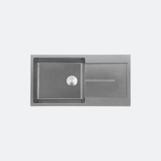 ซิงค์ล้างจาน 1 หลุม หินแกรนิต มีที่พัก eve รุ่น PRIME 1000/500 สีเทา