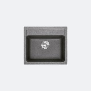 ซิงค์ล้างจานหินแกรนิต 1 หลุม PATIA 570/500 สีเทา