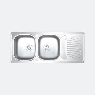ซิงค์ล้างจาน 2 หลุม IMPERIAL 1200/500