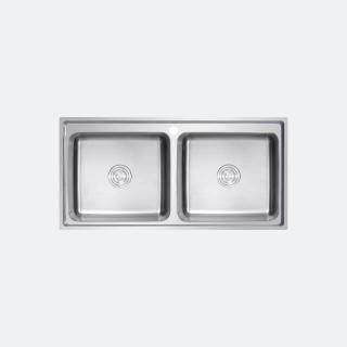 ซิงค์ล้างจาน 2 หลุม ROMO 1000/500