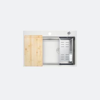ซิงค์ล้างจาน 1 หลุม TOZEN 780/520 ฟรี ก๊อกน้ำรุ่น BELLE