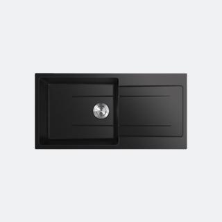 ซิงค์แกรนิต ซิงค์ล้างจานสีดำ eve รุ่น KNOX 1000/500 BLACK (สีดำ)