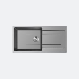 ซิงค์แกรนิต ซิงค์ล้างจาน 1 หลุม eve รุ่น KNOX 1000/500 GREY (สีเทา)