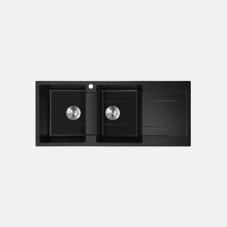 ซิงค์แกรนิต ซิงค์ล้างจานสีดำ eve รุ่น KNOX 1160/500 BLACK (สีดำ)