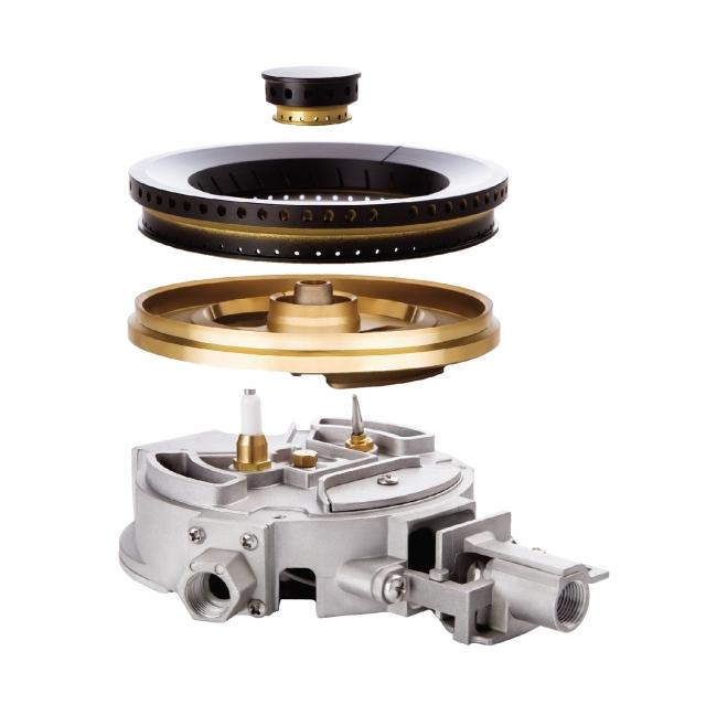 เตาแก๊ส 2 หัว แบบฝัง ฐานกระจกนิรภัย HB76-2AMBHE/GBG