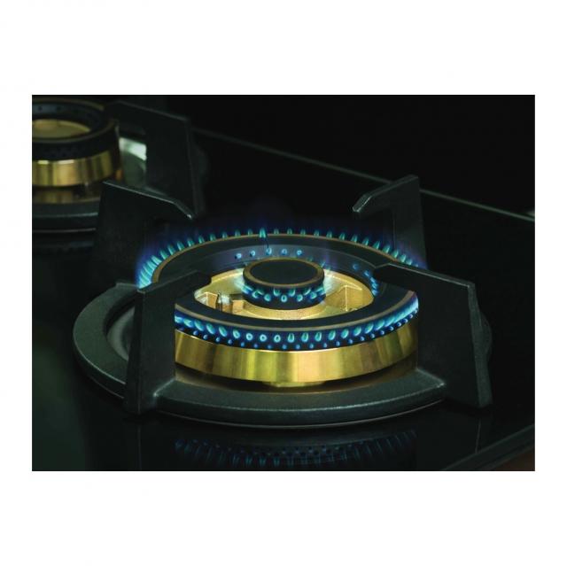 เตาแก๊ส 2 หัว แบบฝัง ฐานกระจกนิรภัย HB78-2BBL/BG