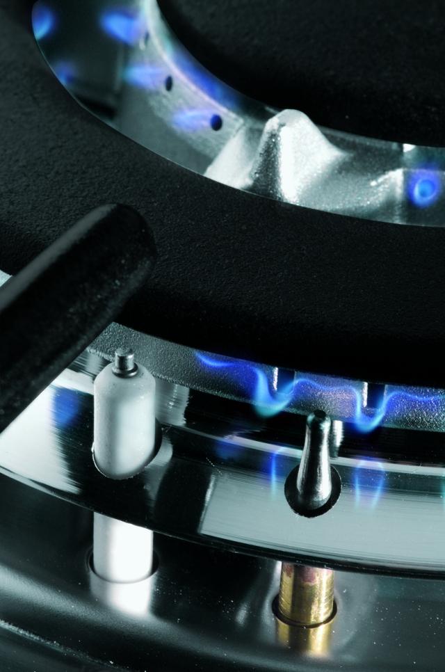 เตาแก๊สตั้งพื้น 2 หัว หัวเตาแก๊ส ผสม หัวเตาอินฟาเรด HFS76-1SW1SIR-MSE