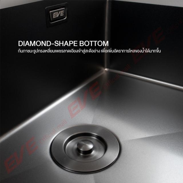 ซิงค์ล้างจาน รุ่น CARBONYTE 1000/520 LH