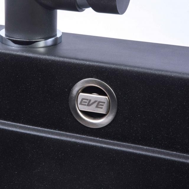 ซิงค์ล้างจาน 2 หลุม หินแกรนิต ยี่ห้อ eve รุ่น PRIME PHI 900/480 สีดำ