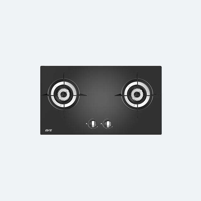 เตาแก๊สฐานกระจกนิรภัยสีดำ SPIRAL 2B
